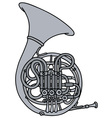 Classic french horn vector image