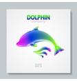 Luxury image logo Rainbow Dolphin To design vector image