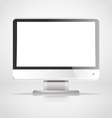 Modern lcd monitor template vector image
