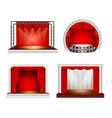 realistic stage design set vector image