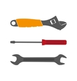 Set flat tool icons on white background vector image