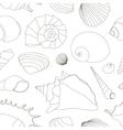 Shell set pattern vector image