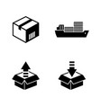 shipping and logistics simple related vector image