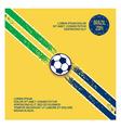 Sports design elements football vector image
