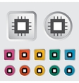 Electronic chip icon 2 vector image vector image