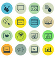 set of 16 marketing icons includes ppc vector image