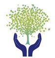 hope tree hand vector image vector image