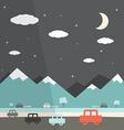 Night Landscape Flat Design vector image vector image