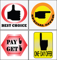4 Sell banners CS5 vector image