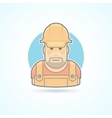 Worker repairman master icon Avatar and person vector image