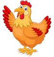 Chicken hen waving hand vector image