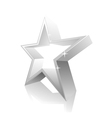 3d star white vector image vector image
