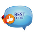 recommendation bubble - with like sign - vector image vector image