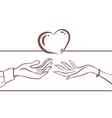 Card Love vector image