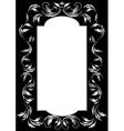 Frame of silver leaf vector image