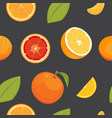 orange seamless pattern on white background vector image