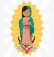 virgin of guadalupe angel devotion image vector image
