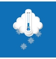 thermometer blue icon snow weather design vector image