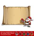 Happy Santa Scroll Holding a small Gift vector image vector image