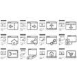 Application line icon set vector image vector image