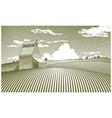 Woodcut Grain Elevator vector image vector image
