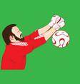 foot ball player vector image