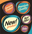 Set of retro labels stickers and badges vector image vector image