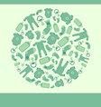 Green baby announcement card vector image