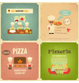 pizzeria retro vector image vector image