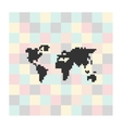 pixel icon map on a square background vector image