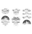 Set Vintage Lowrider Logo Badge and Sign vector image
