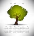 2016 Rough Texture Tree calendar vector image vector image
