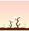 Cute Japan background with old trees vector image vector image