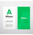 Alliance Abstract Business Card Template or vector image