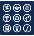 Culture and art icons vector image