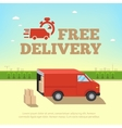 Delivery service concept Truck van for fast shipp vector image