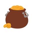 Gold pot icon vector image