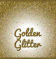 golden glitter background pink golden sparkling vector image