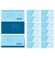 Template changeover desk calendar 2016 Loose-leaf vector image