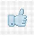 Thumb up icon of pixel art style vector image