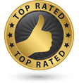 Top rated golden label vector image