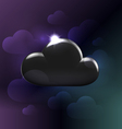 Black plastic glossy generic cloud vector