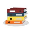 Stack of Binders with Papers vector image vector image