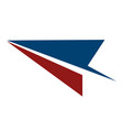 paper plane logo vector image