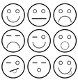 icons of smiley faces vector image