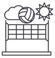 Volleyballsummer sport line icon sign vector image