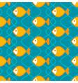 Abstract fish pattern vector image vector image