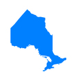 Map of Ontario vector image