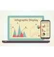 infographics devices vector image