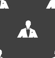 Silhouette of man in business suit icon sign vector image